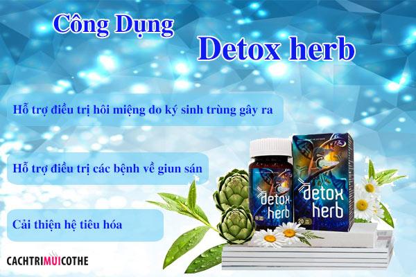 công dụng detox herb
