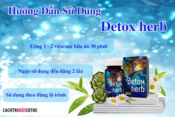hướng dẫn sử dụng detox herb