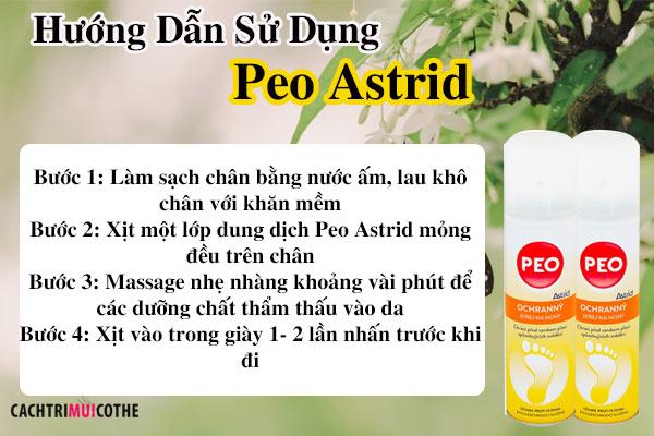 hướng dẫn sử dụng peo astrid