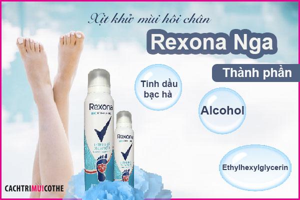 chai xịt khử mùi hôi chân rexona nga