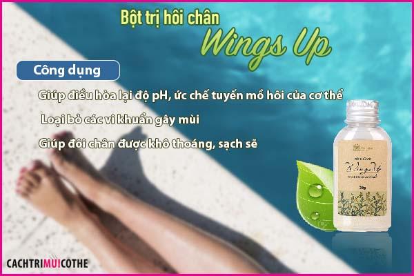bột trị hôi chân wings up